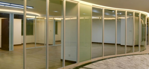 How to do office glass partition decoration